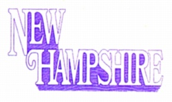 New Hampshire embroidery design
