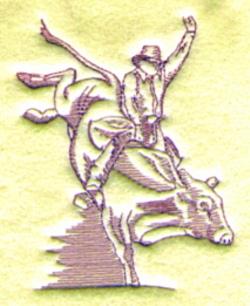 Bull Rider embroidery design