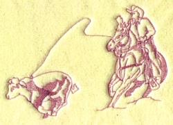 Roper & Calf embroidery design