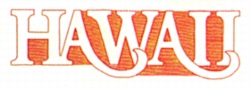 Hawaii embroidery design