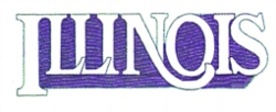 Illinois embroidery design