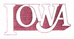 IOWA embroidery design