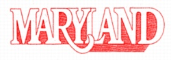 Maryland embroidery design