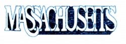 Massachusetts embroidery design