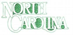 North Carolina embroidery design