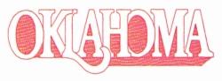 Oklahoma embroidery design