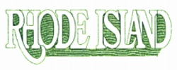 Rhode Island embroidery design