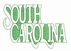 South Carolina embroidery design