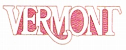 Vermont embroidery design