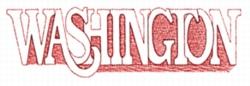 Washington embroidery design