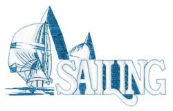 Sailing Sailboats embroidery design