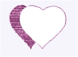 Shadowed Heart Outline embroidery design
