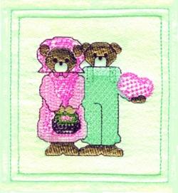 Valentine Bears embroidery design