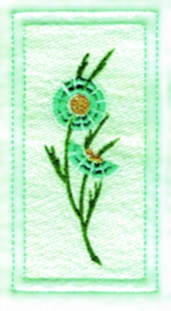 Flower Side Panel embroidery design