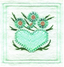 Hearts N Flowers embroidery design