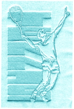 Block Tennis embroidery design
