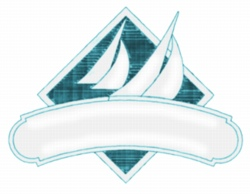 Sailboat Diamond embroidery design