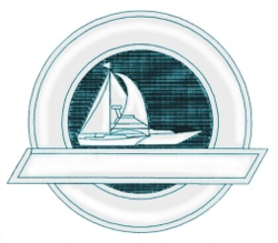 Sail Crest embroidery design