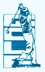 Mens Golf Swing embroidery design