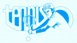 Tennis Backhand embroidery design