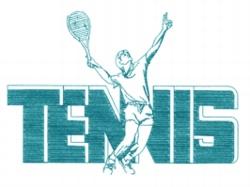 Tennis Serve embroidery design
