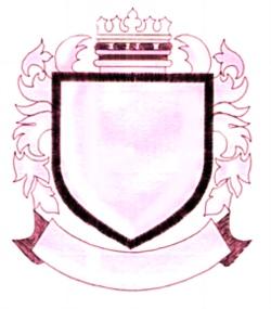 Crest embroidery design
