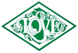 Love & Roses Diamond embroidery design