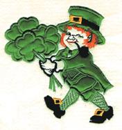 Leprechaun Applique embroidery design