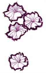 Applique Petunias embroidery design