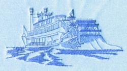 Sternwheeler embroidery design