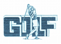 Ladies Golf Drive embroidery design