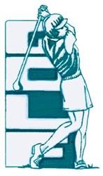 Ladies Golf Swing embroidery design