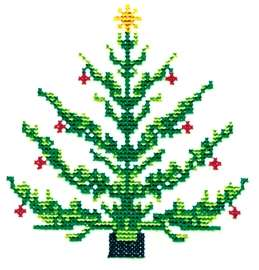 Cross Stitch Tree embroidery design