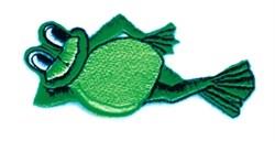 Relaxing Bullfrog embroidery design