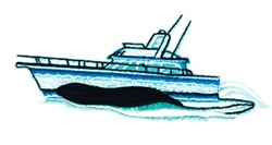 Power Boat embroidery design