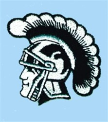 Trojan Soldier  Head embroidery design