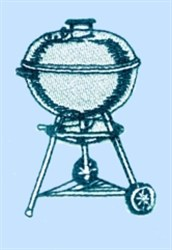 Charcoal Barbeque embroidery design