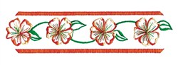 Floral Runner embroidery design