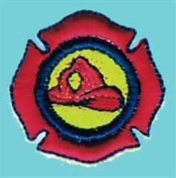 Firefighter Badge embroidery design