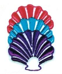 Chevron Shells embroidery design