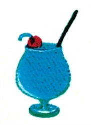 Cocktail embroidery design
