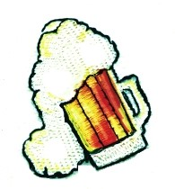 Beer Mug embroidery design