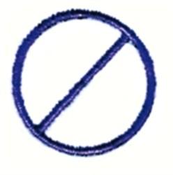 Slashed Circle embroidery design
