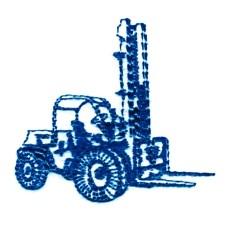 Forklift embroidery design