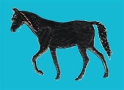 Horse Silouette embroidery design
