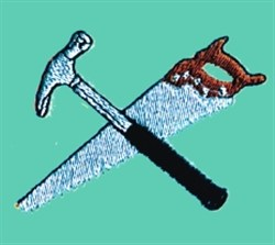 Hammer & Saw embroidery design