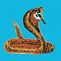 Coiled Cobra embroidery design