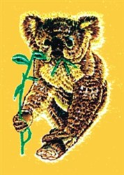 Koala Eating embroidery design