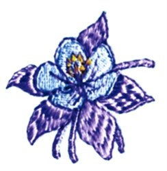 Columbine Flower embroidery design