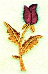 Rosebud embroidery design